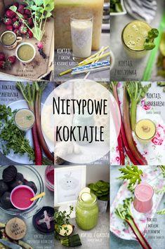 Koktajle z nietypowych składników - przepisy Smoothies, Food And Drink, Weight Loss, Meals, Table Decorations, Green, Per Diem, Smoothie, Meal