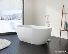 Freistehende Badewanne BW-02-XL aus Mineralguss