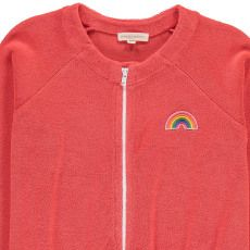 Hundred Pieces Rainbow Towelling Sweatshirt with Zip-listing