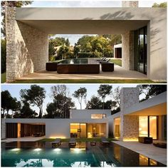 . Like a Rolling Stones! #CasaElBosque by #RamonEsteveEstudio 📷 #MarielaApollonio #arquitetura #architecture #fachada #facade #pedra #stone #piscina #pool #swimmingpool #Spain