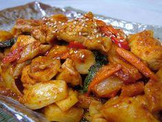닭갈비 dak (chicken) galbi