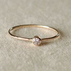 Choose+a+Stone++Tiny+Sparkling+Thread+of+Gold+Stacking+di+MARYJOHN,+$53.00