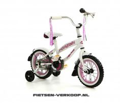 Meisjesfiets Bela Cruise Wit 12 Inch | bestel gemakkelijk online op Fietsen-verkoop.nl
