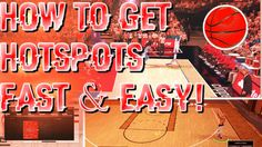 NBA 2K17 : How to get hot zones / hot spots EASY! (MyPlayer) (My career)