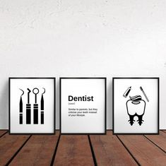 Dentist Art, Gifts For Dentist, Dentist Quotes, Dental Office Decor, Dental Office Design, Dental Hygienist, Dental Assistant, Cabinet Medical, Office Wall Art