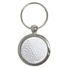 Golf Ball Sport Novelty Round Metal Key Chain #CustomMade #keychain #golf #sports