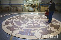 Berti floor inlaid wood for ship