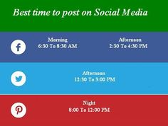 what is the correct time to post on Social Media