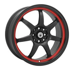 Konig Forward Black Red Stripe Wheel 17x75x100mm >>> Check this awesome product by going to the link at the image. (This is an affiliate link) #CarSportRim17