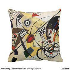 Kandinsky - Transverse Line Throw Cushions