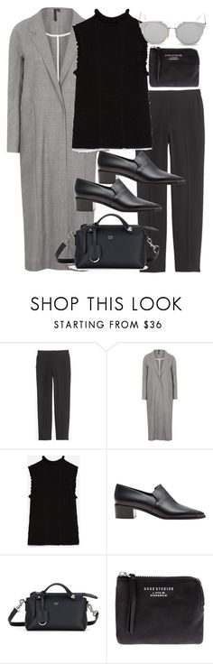 """Untitled #10995"" by minimalmanhattan ❤ liked on Polyvore featuring J.Crew, Boutique, Zara, Acne Studios, Fendi, GANT, women's clothing, women's fashion, women and female"