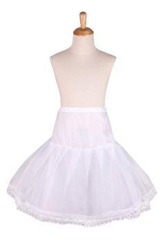 "Flora Girl's 1-Hoop 1 Net Petticoat/Child Underskirt/Bridesmaid Skirt,20""L -  #UK #Ireland [ Delivery To UK & Ireland Only ]"