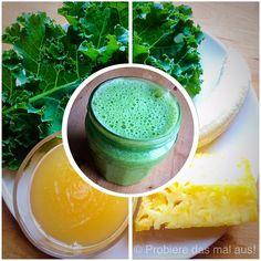 Ein grüner Smoothie, der mir mal richtig gut geschmeckt hat  Frischer Grünkohl aus dem Hochbeet, Banane, Ananas, Apfelsaft  #probieredasmalaus #smoothie #grünersmoothie #grün #greensmoothie #green #greenkitchen #healthy #gesund #yum #yummy #lecker #vegan #veganfood #vegandrink