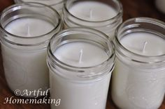 Do you love candles? Would you like to learn how to make your own? This tutorial will teach you how to make homemade soy candles in mason jars. It's easy!