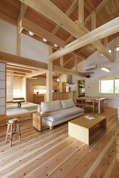 Fresh and modern. Japanese Modern House, Japanese Home Design, Modern Japanese Architecture, Japanese Interior, Interior Architecture, Restaurant Interior Design, Interior Design Living Room, Interior Decorating, Bedroom Minimalist