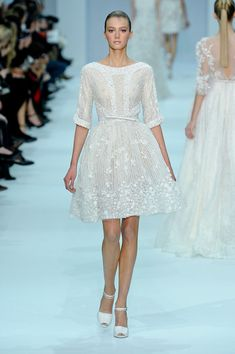 Beautiful, but needs a bra. Elle Saab Couture Spring 2012