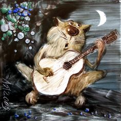 Сказки у камина...: Кот мартовский, поющий
