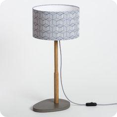 Lampe à poser en bois et medium Hélios