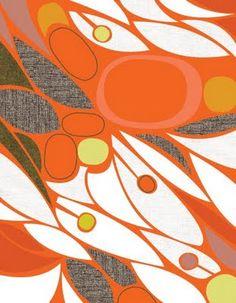 jenn ski print orange