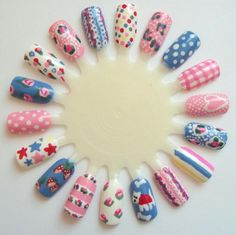 nail art on nail wheels - Google Search