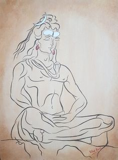 Shiva Art, Shiva Shakti, Hindu Art, Hindu Deities, Hinduism, Indian Gods, Indian Art, Pencil Drawing Inspiration, Shiva Photos