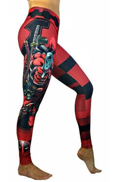 Shop our enormous selection of women's and men's athletic apparel. Red Leggings, Workout Leggings, Women's Leggings, Tights, Athletic Outfits, Sport Outfits, Athletic Clothes, Superhero Leggings, Workout Clothes Cheap