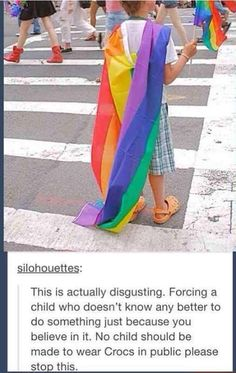 ok so the only reason i found this funny was because of the crocs. please don't assume I'm posting this for the gay part...
