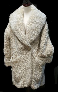 This kind of looks like a muppet...and yet I still want it. Vintage faux fur, $265