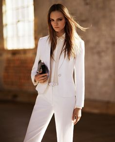 The white suit. Jigsaw Spring Lookbook.