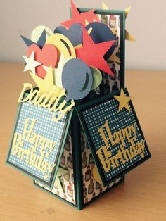 Personalised Celebration Pop Up Box Birthday Card