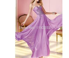 Custom Made Free Shipping Charming Sexy Sweetheart Chiffon Prom Dresses 2014 Floor Length A-line Evening Gowns 2014 New Arrival $140.00