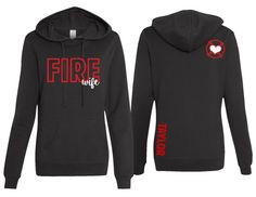 Personalized Fire Wife Womens Fitted Hoodie - Wify Shirt - Ideas of Wify Shirt - Firefighter Wife Hoodie Firefighter Wife Fire by BoundlessCustom Firefighter Apparel, Firefighter Family, Firefighter Paramedic, Firefighter Wedding, Wildland Firefighter, Volunteer Firefighter, Firefighters Wife, Firefighter Decor, Fire Dept