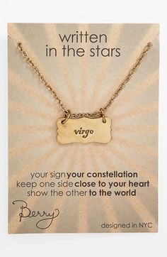 Berry 'Virgo' Reversible Pendant Necklace (Goldtone) available at #Nordstrom