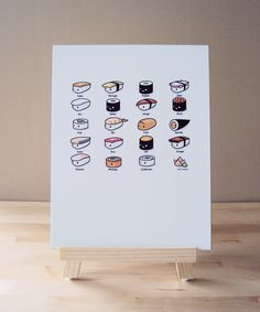 Sushi Lovers Art Print on Etsy