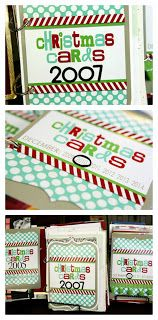 eighteen25: DIY Christmas card books