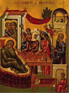8 September (the transcript of an address) Today we celebrate the Nativity of Our Lady, the Mother of God. The holy Fathers, despite the natural abilities at their disposal and despite the effects of the Grace which dwelt within… Art Gallery Websites, Roman Church, Greek Easter, Byzantine Art, Orthodox Christianity, Orthodox Icons, Colorful Paintings, Blessed Mother, Mother Mary