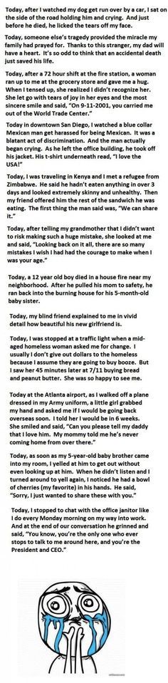 Another that will make you cry (some in a good way)... just read it...