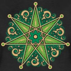 Continuing The Reading… Elven Star ~~~~~~~~ This seven pointed star has different names and occurs in manydifferent traditions, including Sacred Geometry. Most prosaically, it is known as the. Art Shed, Sigil Magic, Symbols And Meanings, Ancient Symbols, Star Tattoos, Witchcraft, Magick, Book Of Shadows, Mandala Design