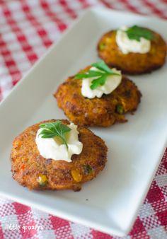 Mini Red Pesto, Sweet Potato and Tuna Burgers | Little Grazers