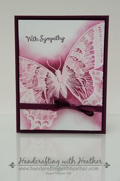 Heather VanLooy: Handcrafting with Heather - Swallowtail Sympathy Card - 8/6/14