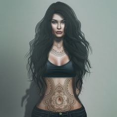 Alle Der Neuen Catwa Cami Basic weiblicher Mesh-Kopf All The New Catwa Cam Fantasy Art Women, Fantasy Girl, Sexy Tattoos, Girl Tattoos, Tattoo Henna, Digital Art Girl, Female Characters, Female Art, Cyberpunk