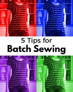 Here's what I learned about batch sewing by stitching four Megan Nielsen Briar T-shirts.