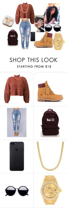"""""""Untitled #358"""" by vislevoki on Polyvore featuring WithChic, Fremada, Rolex and PhunkeeTree"""