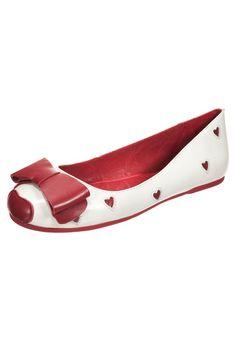 5febba64897c Lola Ramona - RINNA - Peeptoe Ballerina - red cream Sko