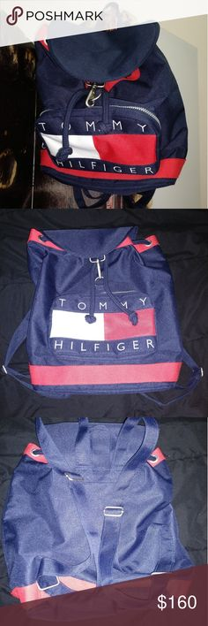 """Tommy Hilfiger back pack"""" Condition 10/10  Only been used once""""  No flaws '  Could be wear by female's or men's """"  No low ballers """" I'm will inored ur offer.    Not responsible for fitting of item or other 🎯🤼"""" Tommy Hilfiger Bags Backpacks"""