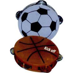 Sportball shaped Tambourine from www.schoolspiritstore.com