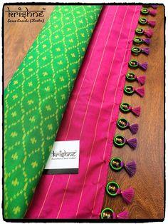 Saree mudi Saree Tassels Designs, Saree Kuchu Designs, Wedding Saree Blouse Designs, Silk Saree Blouse Designs, Blouse Patterns, Simple Sarees, Saree Dress, Beauty Style, Fashion Beauty