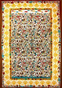 20 Sunshine Joy® Mexican Day of the Dead Fiesta Sugar Skull Tapestry Folk Art Beach Sheet Tablecloth Wall Hanging - 60x90 Inches