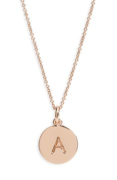 kate space one in a million initial pendant necklace