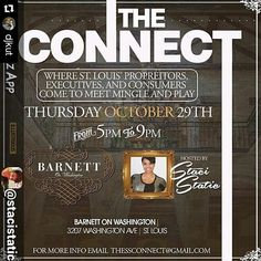 #Repost @djkut  By @stacistatic via @RepostWhiz app: Make the connections you need to make at The Connect!  Thursday October 29th at The Barnett on Washington (3207 Washington corner of Washington and Compton) 5-9pm Free to get in and complimentary valet for early arrivals. (#RepostWhiz app) #instagood #dj #djs Rap #BattleDjs #ClubDjs #Funk #BreakBeats #Hiphop #Jazz  #Talnts #HouseMusic #Reggae  #RocknRoll  #PopMusic #Seratodj  #VinylRecords  #haveuheardpromo #Brooklyn #NYC #party…
